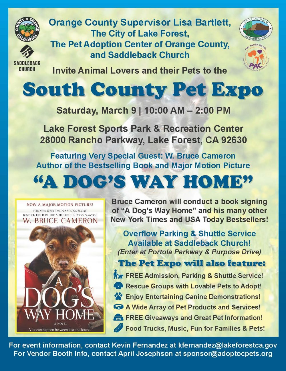 South Orange County Pet Expo @ Lake Forest Sports Park and Rec Center
